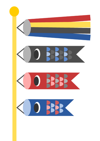 windsock: Japans and Childrens Day (carp-shaped streamers)