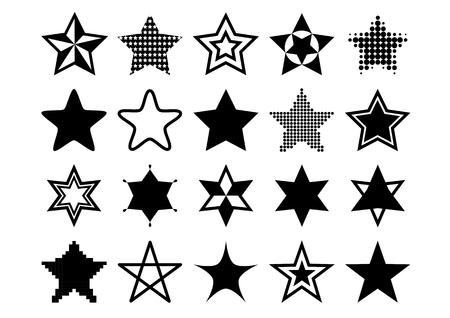 Illustration of star (black)