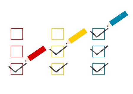 Illustration of pencil and checklist Reklamní fotografie - 77358918