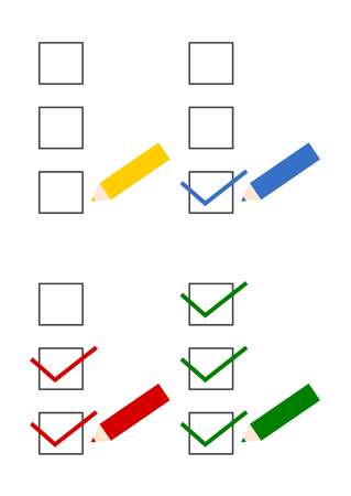 Illustration of pencil and checklist Illustration