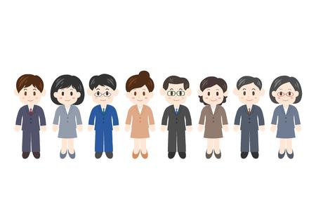 Illustration of businessperson