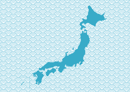 Map of Japan and Japanese Pattern
