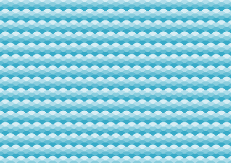 Traditional pattern of blue wave