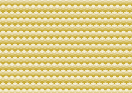 Traditional pattern of gold wave