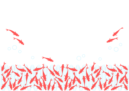 Background illustration of goldfish Illustration