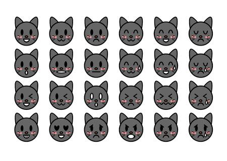 sobbing: Illustration of cat (face)