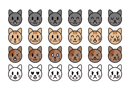 Illustration of cat (face)