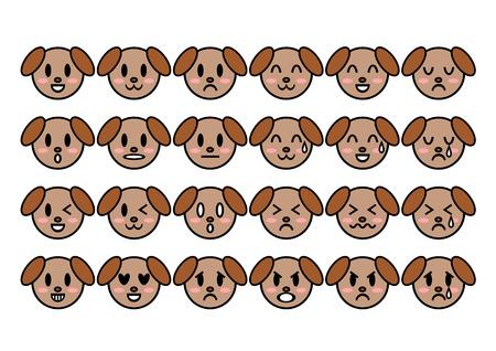 Illustration of dog (face)