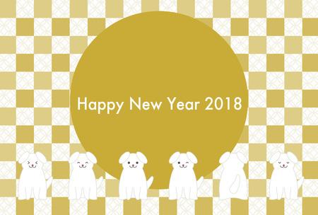 2018 年 (戌年) の和柄カード