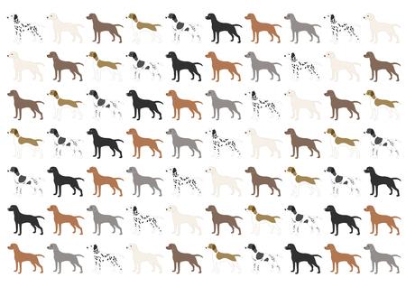 Illustration des chiens Banque d'images - 84570288