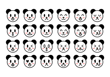 Illustration of panda (face)