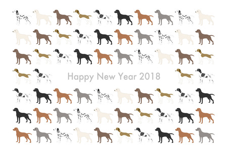 2018 New Years card (Year of the dog) Illustration
