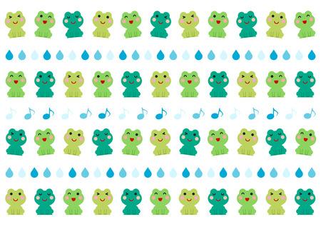 Illustration von Frosch und Regen Vektor-Illustration.