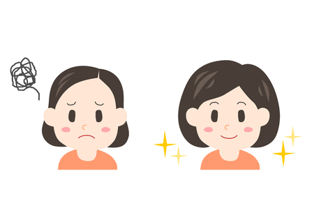Trouble of thinning hair (woman)