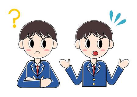Illustration of student.