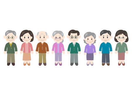 Illustration of women and men vector illustration.