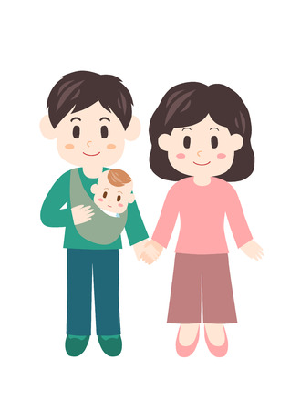 Baby and couple