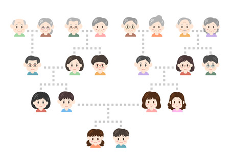 Illustration of family tree Stok Fotoğraf - 88597435