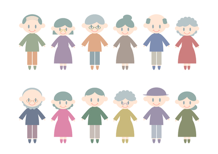 Elderly person icon with colorful design vector illustration