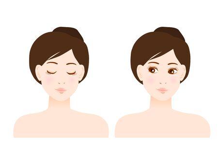 Illustratie van vrouw en schoonheid Stock Illustratie