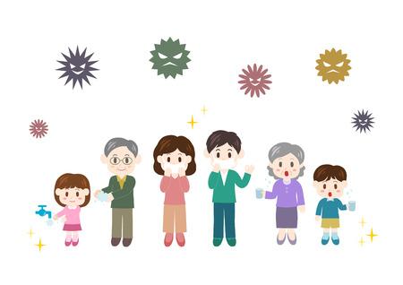 Prevention of cold illustration