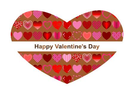 Happy Valentines Day (heart-shaped). Illustration