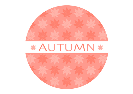 Logo of autumn  イラスト・ベクター素材