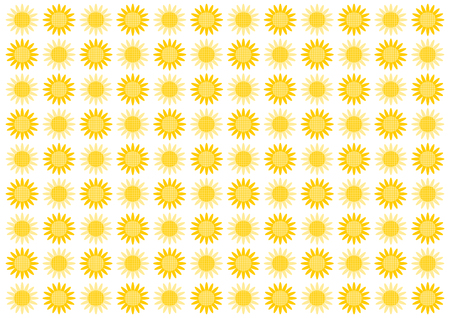 Background illustration of sunflower