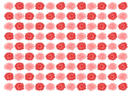 Background illustration of red carnation Ilustração
