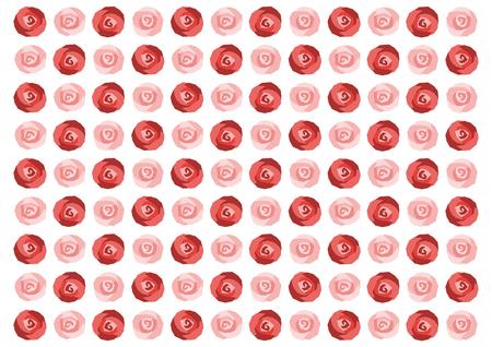 Background illustration of red rose Ilustração