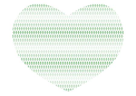 Heart shape and people Archivio Fotografico - 102188552