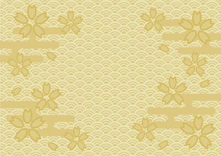 Japanese tradition pattern and cherry blossom Imagens - 104879238