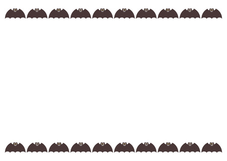 Frame of Halloween: bat Ilustração