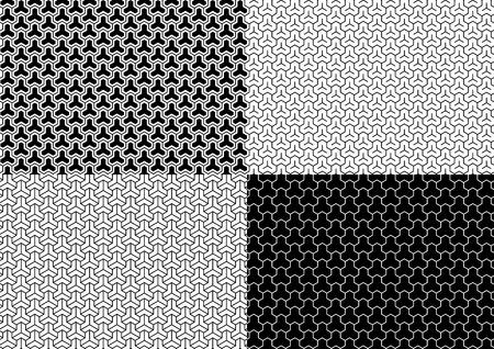 Japanese traditional pattern set Çizim