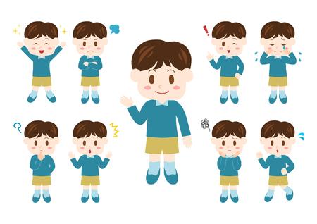 People illustrations set: boy