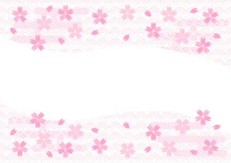 Background illustration: cherry blossoms