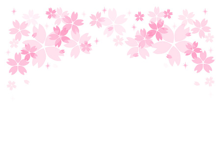Background illustration: Cherry Blossoms and Radial Speed Lines