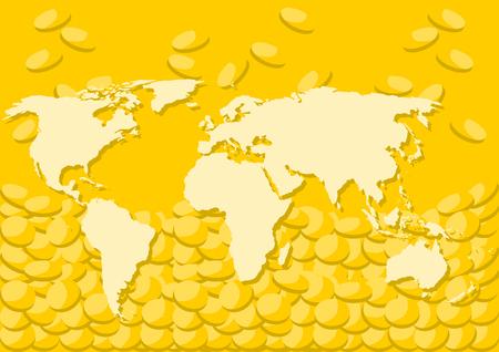 World map and money background illustration