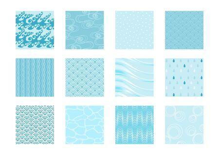 Water Image background illustration set