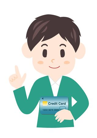 Man with a credit card.