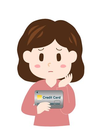 Woman with a credit card.