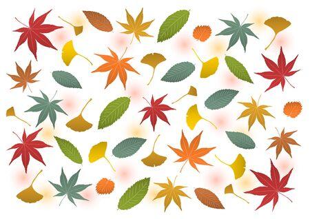 Vector illustration of autumn leaves.