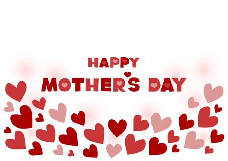 Vector illustration of Mothers Day. Heart design. Greeting card.