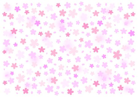Vector illustration of cherry blossoms. In full bloom. background Floral.