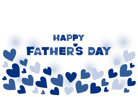 Vector illustration of Fathers Day. Heart design. Greeting card.