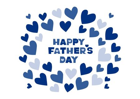 Vector illustration of Father's Day. Heart design. Greeting card. 写真素材 - 142762127
