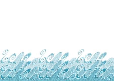 Wave pattern. Water Image vector illustration. Frame design. Japanese traditional pattern background. 矢量图像