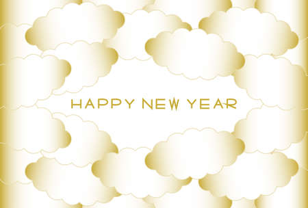 New Year's card. Cloud pattern design. Vector illustration.
