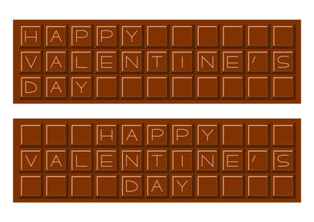 Vector illustration of Chocolate. Banners and icons for Valentine's Day.