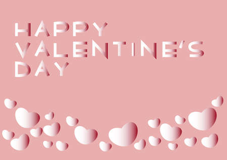 Vector illustration of Valentine's Day.   and heart design. Icon, banner, greeting card. 矢量图像